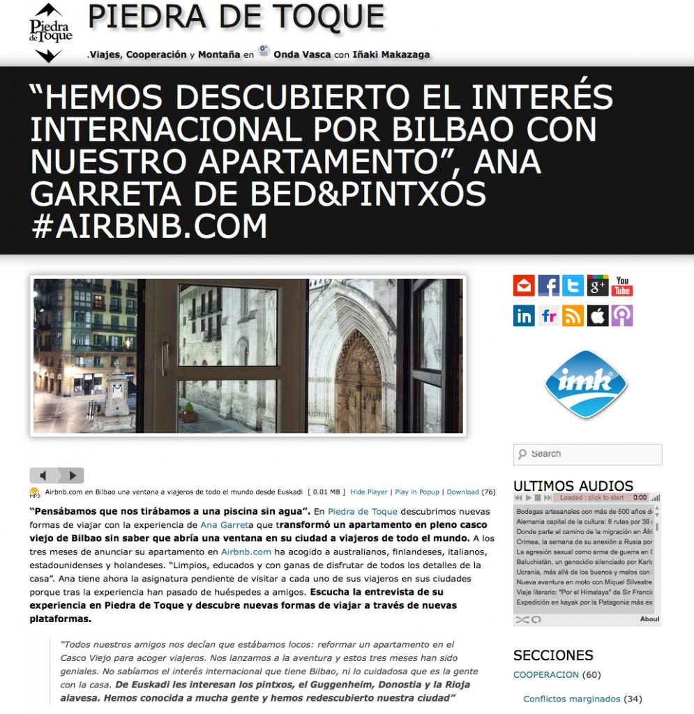 Imk comunicación Airbnb piedra de toque